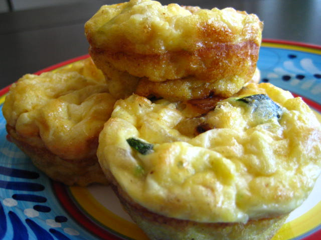 Small frittata with vegetables